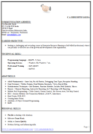 Effective Career Objective For Resumes Perfect Cv Example Page 1 Career Pinterest Resume Resume