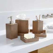 Shining Design Bamboo Bathroom Set Dixon Bath Accessories Crate ...
