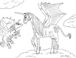 Small Picture Coloring Pages Of Unicorns With Wings Coloring Coloring Pages