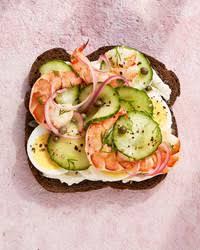 Open Faced Black Bread Sandwich Recipe Martha Stewart
