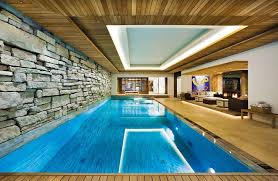 home indoor pool with bar. Narrow Indoor Swimming Pool With Stone Wall Cladding Home Bar I
