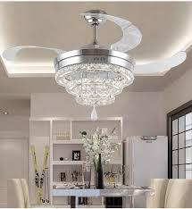 exquisite chandelier fan light at led crystal lights