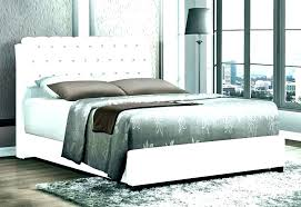 White Tufted Queen Bed Upholstered Leather Faux King Tu – ztron