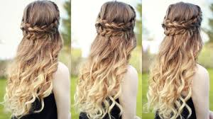 Pin Curl Hair Style beautiful half down half up braided hairstyle with curls half 4283 by wearticles.com