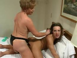 Lesbian blackmail with strap on