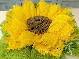 sunflower wreath ribbon center after sprayed