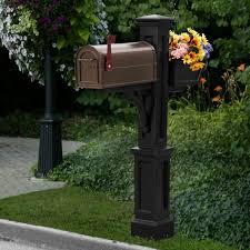 Mayne Westbrook Plus Vinyl Mailbox Post