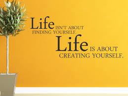 Wandtattoo Creating Yourself Spruch Englisch Von Wandtattoonet