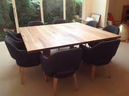 custom diy square dining room table seats  with black chairs ideas