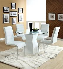 glass kitchen table chairs round white dining table set glass top with white base glass kitchen