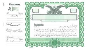Template For Stock Certificate Eagle Stock Certificate Template Blank Corporate Templates