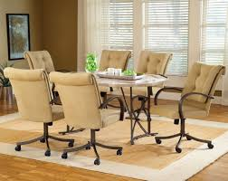 interior alluring rolling dining chairs 20 charming table with caster 27 room sets wheeled set roller
