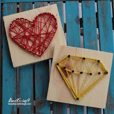 easy string art tutorial heart diamond