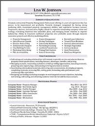 Manager Resume Templates Enchanting Property Manager Resume Templates Property Management Resume
