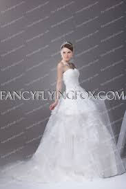 Classy Strapless Ball Gown Wedding Dress With Lace Appliques ...