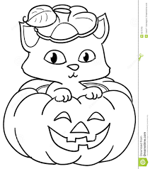 Small Picture Halloween Coloring Pages With Cats Halloween Kittens