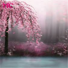Cherry Blossom Backdrop Cherry Blossom Backdrop Vinyl Photography Background Studio Props 10x10ft 11 229 Ebay