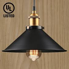 1 light industrial hanging pendant light retro vintage style matte black metal shade exquisite workmanship for dining room bars warehouse e26 base