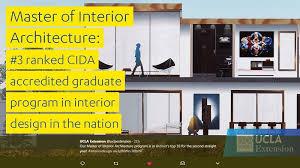 Cida Accredited Interior Design Schools Extraordinary UCLA Extension Master Of Interior Architecture CIDA Ranked 48 In The