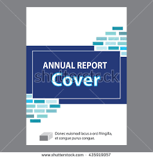 Blue Annual Report Title Page Sample Stock Vector Excellent And Cool ...