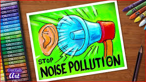How To Draw Stop Noise Pollution Poster Chart Drawing For