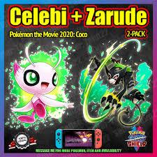CELEBI + ZARUDE 2-Pack | Pokemon Movie 2020 Event | 6IV | Pokemon Sword  Shield