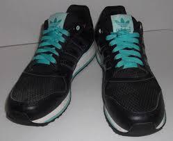 adidas 004001. womens retro adidas zxz evm 004001 *us 9* black turquoise 3 stripe running shoe 2