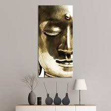 metallic buddha multi panel canvas wall art on buddha wall art metal with metallic buddha multi panel canvas wall art elephantstock