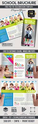 tri fold school brochure template school free psd tri fold psd brochure template by elegantflyer