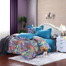 purple and blue bedding royal blue purple and orange tropical themed on orange and blue bedding