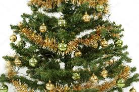 Decorating Christmas Tree With Balls Decorated Christmas Tree With Yellow And Green Balls Stock Photo 47