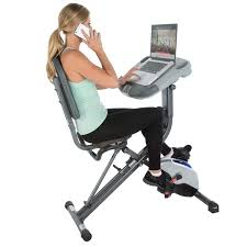 exerpeutic workfit 1000 desk station folding exercise bike with pulse measurement canada