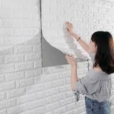3D Brick Wall Stickers Living ...