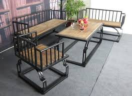 iron industrial furniture. American Country With Industrial Iron Wood Coffee Table Tea Retro  Furniture Loft Long R