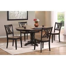 iconic furniture 5 piece oval dining table set gray stone black stone hayneedle