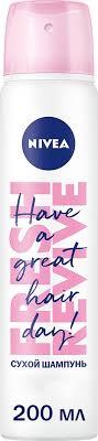 Nivea Fresh Revive 3в1 <b>Сухой шампунь</b> для волос, с эффектом ...