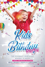 Event Flyers Free Free Birthday Kids Event Flyer Template Download Freepsdflyer
