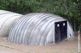 When wetted, the inflatable concrete structure forms a structural shell,  with the joints functioning as stiffening ribs.  Concrete Canvas, Ltd.