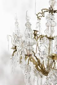 antique french baguès doré bronze and crystal chandelier