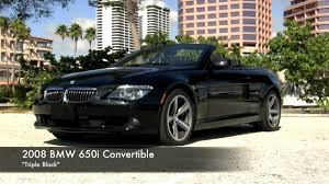 2008 BMW 650i Convertible Black Sapphire Metallic Autos of Palm ...