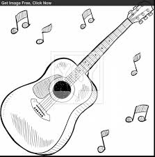 fantastic acoustic guitar sketches with guitar coloring pages ...