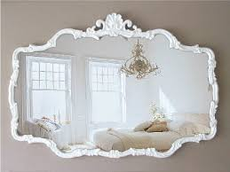 H U G E Vintage Cottage Chic Mirror Shabby Chic French Country