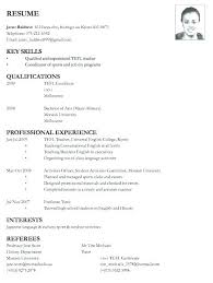 Job Application Resume Example – Universitypress