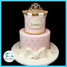 Pink And Gold Princess 1st Birthday Cake Nj Blue Sheep Bake Shop