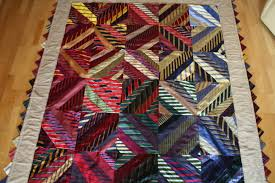 Teaching — Jane Haworth & Neck tie quilt made with about 40 neck ties Adamdwight.com