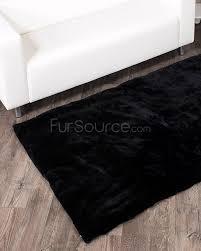 sheared beaver rug black