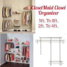 closetmaid wire closet organizer shelftrack 5 ft to 8 ft