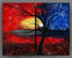 modern abstract canvas art oil painting framed gop
