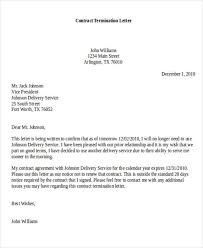 lease agreement cancellation letter letter of contract cancellation