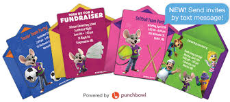Online Party Event Invitations For Kids Chuck E Cheeses